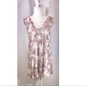 PAPER CRANE Floral Sleeveless Dress